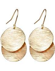 Gold Statement Earrings Lightweight Filigree Dangle Earrings