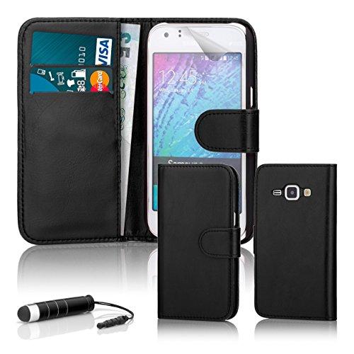 32nd Custodia a Portafoglio in Pelle PU per Samsung Galaxy J3 (2016), Case Realizzato in Pelle Sintetica con Diversi Comparti e Chiusura Magnetica - Nero