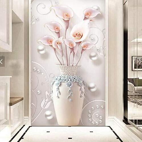 3D grote gebruikersgedefinieerd wallpaper muurschildering slaapkamer woonkamer keuken geperste driedimensionale minimalistische home en rijke vaas veranda gang wandfoto, 250 * 175 cm