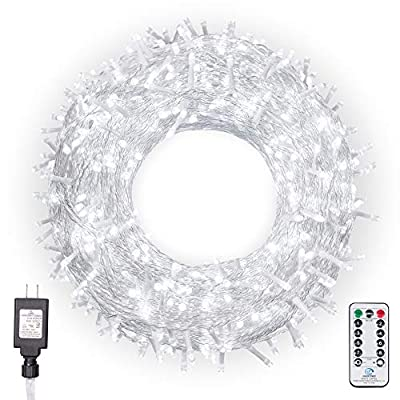 Ollny Christmas Lights 800 LEDs 330ft Outdoor String Lights with Remote Control and Timer Plug in 8 Lighting Modes for Wedding Party Christmas Decoration Lights NOT CONNECTABLE