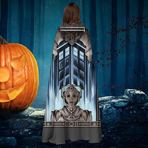 AISFGBJ Upgrade Your Metropolis Cyberman Doctor Who Unisex Weihnachten Halloween Hexe Ritter Kapuzenmantel Vampir Umhang Umhang Cosplay Kostüm