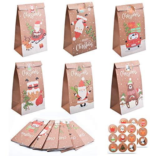 Christmas Paper Gift Bag, 12 Pack