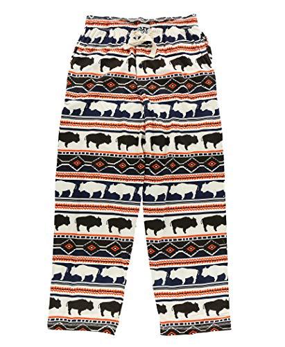 Lazy One Animal Pajama Pants for Men, Men's Separate Bottoms, Lounge Pants (Buffalo Fair Isle, X-Large)
