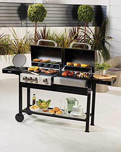 Dual Fuel BBQ - Coal & Gas - Free Fast Shipping - Lowest Price!