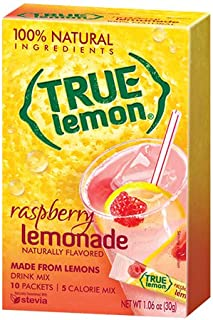100% Natural True Lemon-ade with Raspberry 10 Ct (Pack of 3) by True Lemon