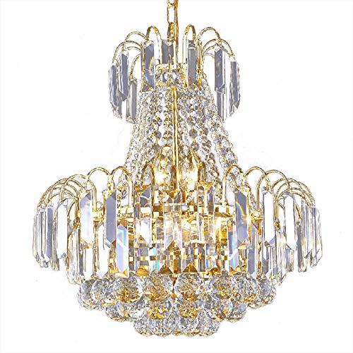 Crystal Chandelier Lighting Luxury Flush Mount Ceiling Light, Golden Chrome Finish - Dia23.62