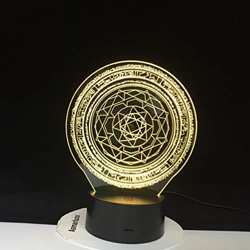 Geometry Hexagon Creative Gradients Night Light 3D Lampada da tavolo a LED per bambini regalo di compleanno decorazione da comodino