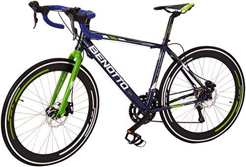 Benotto RRUTRI701654AZ Bicicleta de Aluminio Rodada R700C, Unisex, 16 Velocidades