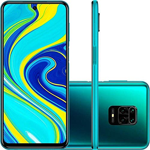 "Xiaomi Redmi Note 9S (128GB, 6GB) 6.67"", 4K Camera, 18W Fast Charge, 5020mAh Battery, Dual SIM GSM Unlocked 4G LTE (T-Mobile, AT&T, Metro, Cricket) International Model (Blue, SD + Case Bundle)"