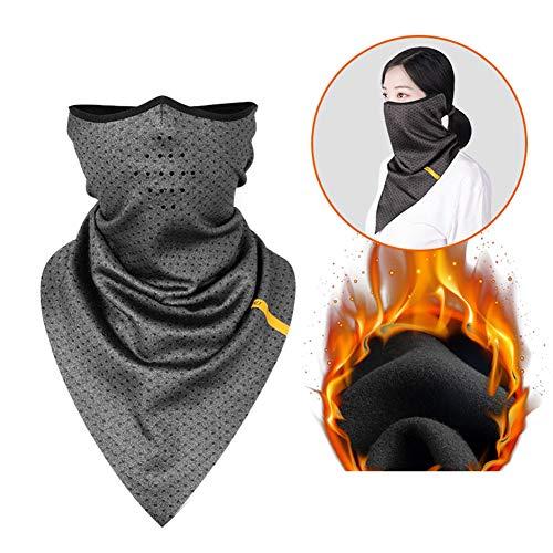Koudbestendig masker Fleece Heren en Vrouwen Kraag Bib Masker Herfst en Winter Outdoor Winddichte Koude Sjaal Rijuitrusting Grijs