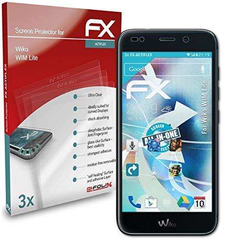 atFolix Schutzfolie kompatibel mit Wiko WIM Lite Folie, ultraklare & Flexible FX Bildschirmschutzfolie (3X)