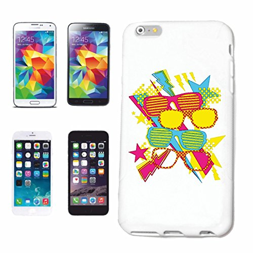 Bandenmarkt telefoonhoes compatibel met iPhone 7+ Plus brillen Graffiti Techno brillen brilmontuur bril zonnebril leesbril GLEIDzichtbril Hardca