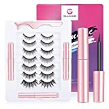 Magnetic Eyeliner and Eyelashes Kit,Magnetic Eyelashes with Eyeliner, False Eyelashes, 7 Pairs Magnetic Lashes with 3 Tubes Upgraded Magnetic Eyeliner- Stick Well & Remove Easy