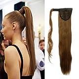 S-noilite parrucchino parrucca Extension coda di cavallo di estensione dei capelli coda di cavallo estensione capelli vari colori Marrone chiaro