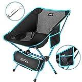 BuFan Chaise Camping Pliable Compact, Chaise Camping Ultra-Légères Portatives avec pour Randonnée Pêche