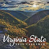Virginia State 2022 Calendar: Gifts for Friends and Family with 12-month Monthly Calendar in 8.5x8.5 inch