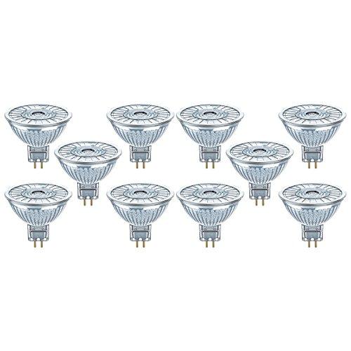 Osram LED SuperStar MR16 Reflektorlampe, mit GU5.3-Sockel, dimmbar, Ersetzt 35 Watt, 36° Ausstrahlungswinkel, Warmweiß - 2700 Kelvin, 10er-Pack