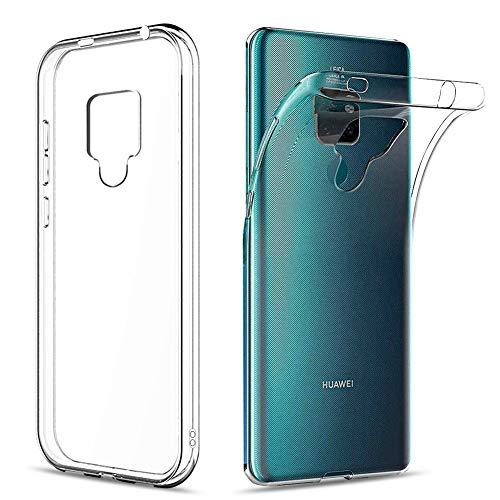 Amonke Funda para Huawei Mate 20 X, Silicona Transparente TPU Protectora Carcasa Antigolpes, Anti Caídas Ultrarock Ultrafina Suave Case Cover Compatible con Huawei Mate 20 X 7.2
