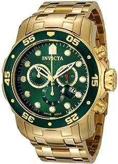 ساعة يد 0075 برو دايفر بمؤقت زمني كرونوغراف ومطلية بالذهب 18 قيراط للرجال من انفيكتا