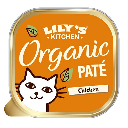 Lily's Kitchen Adult Organic Chicken Dinner Complete Wet Cat Food (19 x 85...