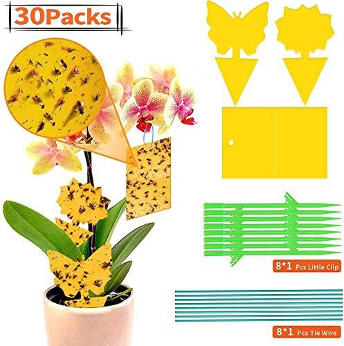 OUTOPE Gelbe Fliegenfalle,Gelbsticker,Gelbtafeln Trauermücken Gelbsticker,Gelbtafeln Trauermücken,Leimfalle Gelb,Fliegenfalle Gelbsticker