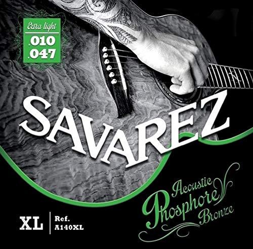 Savarez Cuerdas para Guitarra acústica juego acoustic phosphor bronze extra light .010-.047w A140XL