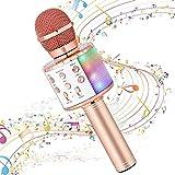 Karaoke Microphone for Kids Singing,Milerong 5 in 1 Wireless...