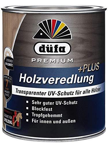 DÜFA PREMIUM HOLZVEREDELUNG PLUS UV| Wetterschutz-Lasur | Holzschutz-Lasur | Absolute Premium-Qualität | 0,75 Liter NATUR