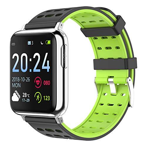FXMJ Fitness Tracker con Llamada Bluetooth, ECG, Frecuencia Cardíaca, Presión Arterial, Oxígeno En Sangre Smartwatch Monitor De Sueño, Pantalla Táctil De 1.3'Pulsera Actividad Impermeable IP67,Verde
