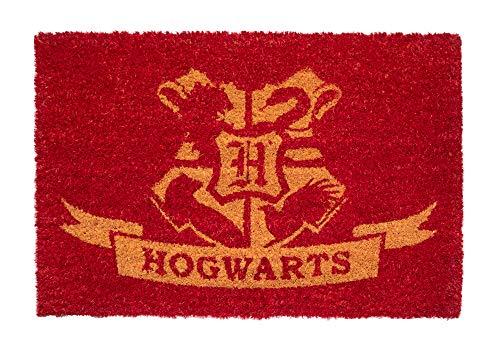Felpudo Harry Potter Hogwarts - Felpudo entrada casa antideslizante 40 x 60 cm - Alfombra entrada casa exterior, Fabricado en fibra de coco - Productos con licencia oficial