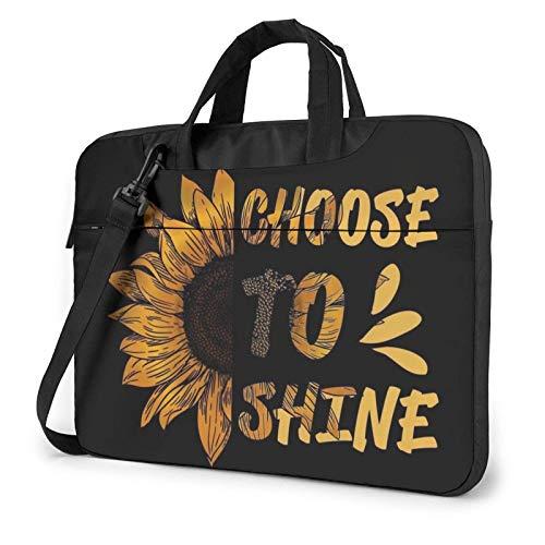 15.6 inch Laptop Shoulder Briefcase Messenger Sunflower Shine Tablet Bussiness Carrying Handbag Case Sleeve