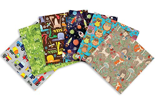 Jillson Roberts All-Occasion Flat Gift Wrap in Assorted Designs, Kids, Teens and Tweens, 12 Sheet-Count (EFW012)