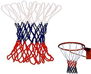 Sports & Outdoor - Overstriking Solid Three Color Polypropylene Basketball Net Extended - Basketball Replacement Outdoor Hoop White Blue Spalding Pool - Red And Net - 1PCs