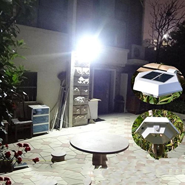 SHIQUNC LED Solarenergie menschlichen Krper Induktion Wandleuchte sechseckigen IP55 wasserdichte 3W Gartenleuchte 2 Stücke