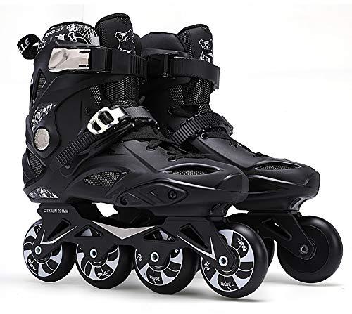 XIHAI Inliner Skates Damen Bequem Atmungsaktiv Inliner Herren 3D Stereo FußWickel Rollerblades VerschleißFest rutschfest Halterung Aus Aluminiumlegierung Erwachsene Rollschuhe,Schwarz,36