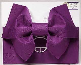 【日本製】ジュニアサイズ 浴衣 結び帯 作り帯 パープル