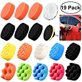 WINOMO 19Pcs Polishing Pads Sponge Buff Pads Set Kit with M10 Drill Adapter for Car Polisher