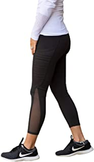 Leggings de yoga para mujer, de malla de cintura alta, con bolsillo, Soft Tummy Control
