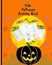 Kids Halloween Activity Book: Brain Teaser for kids  Simple Word Search puzzles Coloring pages Dot-to-dot drawings Hang man skeleton (Children's Holiday Games)