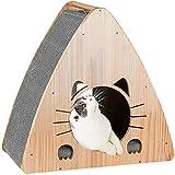 JR Knight - Lettino per gatti, in legno, tiragraffi per gatti