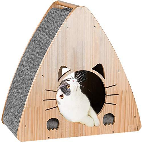 JR Knight Katzen Kratzbrett Kratzmöbel Kratzbaum Katzenkratzbaum Katzenhaus Katzenhöhle Katzenbett Katzenspielzeug Kratzpappe für Katzen und kleine Hunde 54x30x53 cm