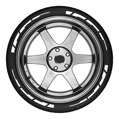 2020 nuevo 16 piezas pegatinas de neumáticos de coche pegatinas de neumáticos de coche de personalidad duradera pegatinas de estilo de rueda de llanta personalizadas para coche 4 colores disponibles