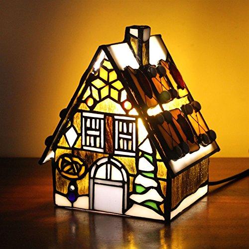 Gweat Lampe de table jaune Little House Villa Lampe de chevet pour enfants