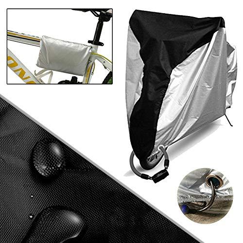 Funda Bici Funda Bicicleta Exterior Impermeable Accesorios para Bicicletas Bicicleta Accesorios Accesorios de Bicicleta para Hombres Silver+Black,s