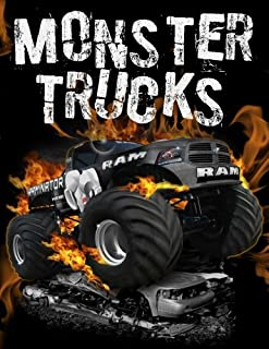 Monster Trucks: Stress Relief Adult Coloring Book: 25 Monster Trucks for Coloring Stress Relieving - Illustrated Drawings and Artwork to Inspire ... And Adults (Monster Trucks Coloring Books)