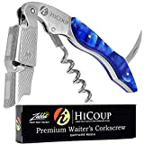 Professional Waiter's Corkscrew by HiCoup – Sapphire Resin Handle All-in-one Corkscrew, Bottle Opener and Foil Cutter, the Favored Choice of Sommeliers, Waiters and Bartenders Around the World