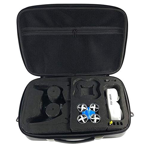 DorisAA Drone Flash LED de Colores claros Bolso Mochila Bolsa de la Caja Compatible con la Hoja Inductrix Tiny chillido Eachine QX90 QX95 E010 Fatshark FPV Gafas (Color : Negro, tamaño : Un tamaño)