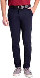 Haggar Men's Active Series Tech Slim Fit Flat Front Supreme Flex Waistband Pant