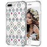MOSNOVO Coque iPhone 8 Plus, Coque iPhone 7 Plus, Ancien Yeux Gemmes Design Motif...