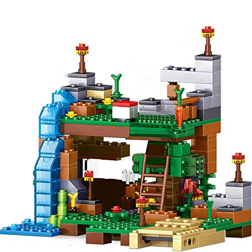Bloques de construcción My World Sets Building Blocks Village City Tree House Cascada Warhorse Ladrillos Juguetes Para Niños